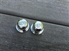 Two New Chrome Plated Split Shaft RCA Drive-In Movie Speaker Volume Control Knobs
