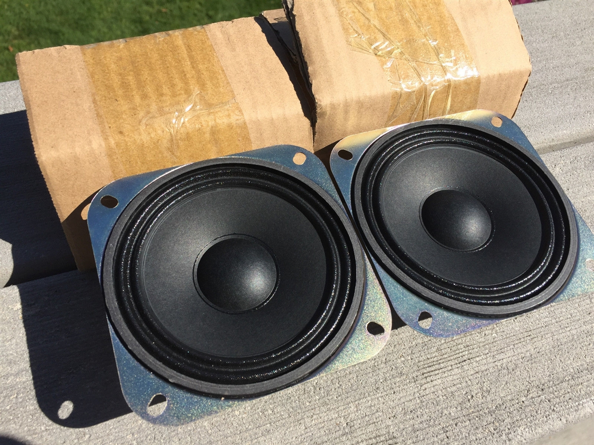 2 Premium Water Resistant Projected Sound 4 Inch 5 Watt Drive In Movie Theatre Speaker Set