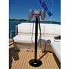 RCA Drive-In Movie Speaker Set With Round Black Powder Coated Metal Pole & Base