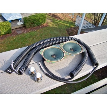 Do It Yourself Drive-In Speaker Restoration Kit With Curly Cords And White Knobs