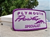 New Official Plymouth Prowler Student Specialist Patch