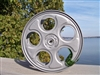 Restored Silver Hammertone 10 Inch Drive-In Movie Reel With Trailer Film Strip
