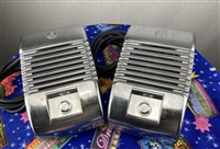 2 Chrome Knob Indoor Outdoor Detroit Diecast RCA Drive-In Theatre Movie Speakers