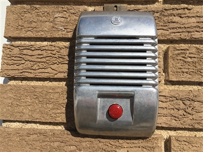 Indoor or Outdoor Detroit Diecast Wall Art RCA Drive In Speaker Cover With Red Black Or Blue Knob