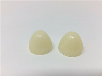Two New OE NOS Ivory Cone Acorn Shape Famous Drive-In Movie Speaker Knobs