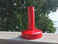 Detroit Diecast Red Powder Coated Mini Table Top Drive-In Movie Speaker Metal Pole And Base
