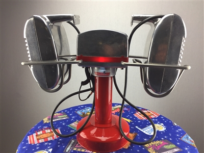 Amplified Bluetooth RCA Drive-In Movie Speaker Set + Red Metal Pole & Base